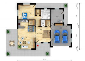 Rodinný dům Absolut - půdorys - přízemí