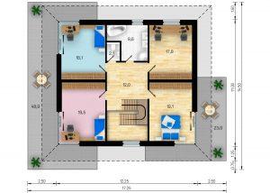 Rodinný dům Absolut - půdorys - poschodí