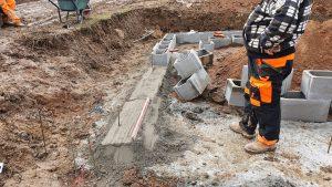 Navyšování zavadlého betonu pro ztracené bednění