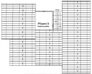 Rozdělení stropních konstrukcí od 3 bloků